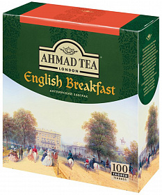 Чай черный Ahmad English Breakfast 100 саше по 2г. фото в on-line гипермаркете Kofe-Da.ru